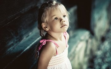 взгляд, дети, девочка, волосы, лицо, ребенок, косички, jacky art, zuza