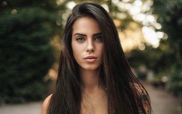девушка, портрет, взгляд, модель, волосы, губы, лицо, мартин кюн, marlen valderrama alvarez