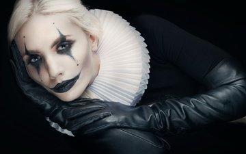 стиль, девушка, блондинка, портрет, взгляд, модель, волосы, лицо, макияж