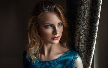 девушка, портрет, взгляд, волосы, губы, лицо, польша, дамиан piórko, карла sonre