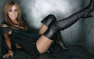girl, smile, look, model, legs, hair, face, singer, boots, louise redknapp
