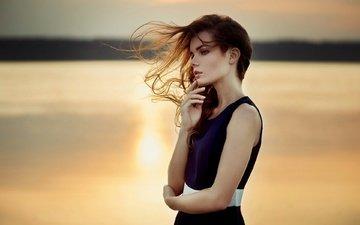 девушка, взгляд, профиль, волосы, лицо, ветер, ирина регент, ann nevreva