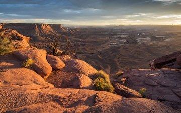 the sky, mountains, rocks, nature, horizon, canyon, usa, gorge