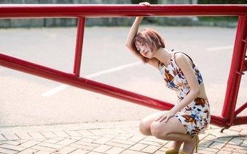 девушка, улица, азиатка