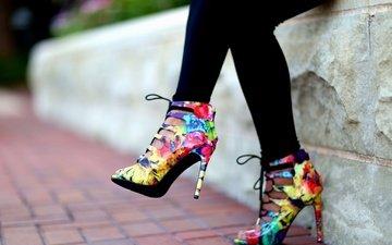 стиль, девушка, цвет, ножки, каблуки