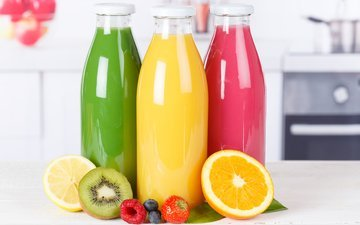 lemon, orange, drinks, kiwi, 5, juice