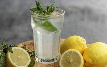 мята, фото, лимон, лимонад
