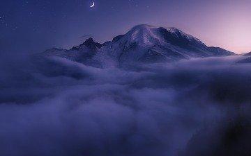 mountains, nature, landscape, fog