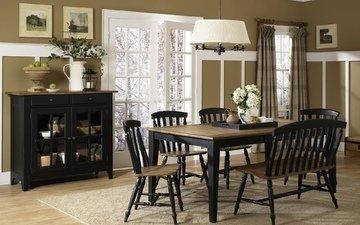 стол, мебель, стулья, столовая