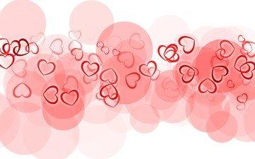 фон, вектор, цвет, графика, сердце, любовь, сердечки