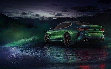 зима, 2018, сзади, купе, бмв, сбоку, m8 gran coupe concept