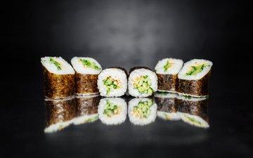 еда, японии, суши, морепродукты, булка, ролы