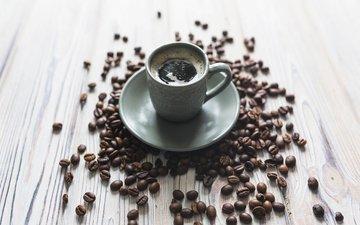 кофе, кофейные зерна, эспрессо