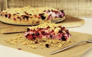 ягоды, выпечка, пирог