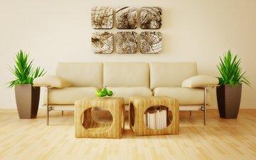 интерьер, дизайн, комната, диван, гостиная, модерн