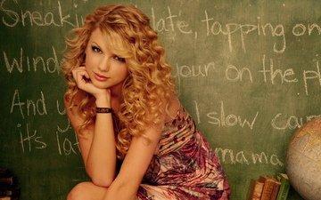 девушка, грудь, длинные волосы, рыжая девушка, рыжие волосы, цветное платье
