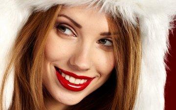 девушка, макияж, крупно, izabela magier, красивые глаза, пухлые губы, открытый рот, девушка в мехах