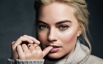девушка, блондинка, актриса, макияж, красивая девушка, красивое лицо, крупно, марго робби