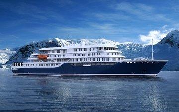 sea, ship, liner, cruise, hondius
