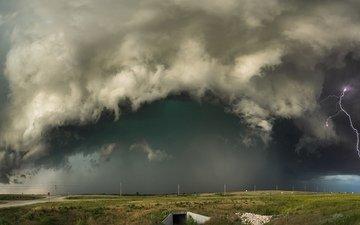 nature, clouds, lightning, tornado, category