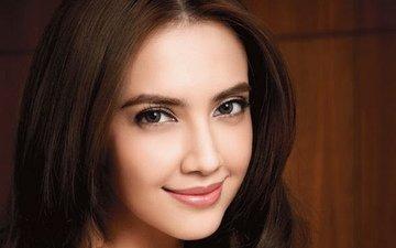 девушка, актриса, макияж, крупно, модель сара лидж