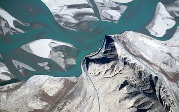 горы, ледник, 123