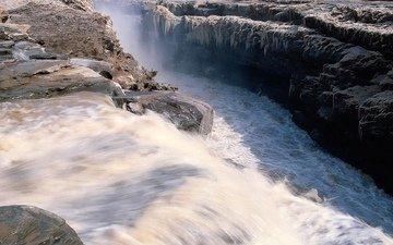 вода, камни, водопад