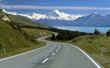road, mountains, nature, landscape