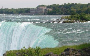 река, водопад, ниагарский водопад
