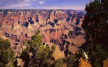 the sky, mountains, rocks, canyon, usa, gorge, az, national park, grand canyon national park, the grand canyon
