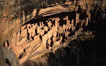 rock, usa, cave, colorado, mesa verde national park, montezuma county