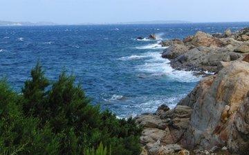 скалы, природа, берег, море, побережье