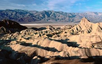 mountains, sand, desert