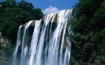 вода, природа, пейзаж, водопад
