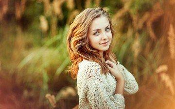 глаза, девушка, улыбка, портрет, взгляд, красавица, лицо, на природе, открытый, подросток