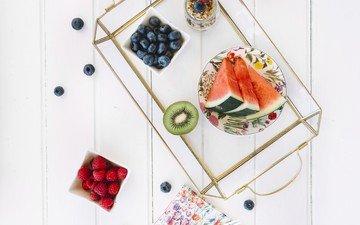 виноград, фрукты, арбуз, киви, дерева, голубика, vitamin