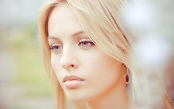 глаза, девушка, блондинка, макияж, красивые, шикарная