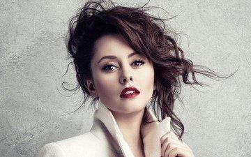 девушка, актриса, макияж, алые губы, comedy woman