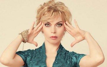 девушка, блондинка, актриса, певица, макияж, большие глаза
