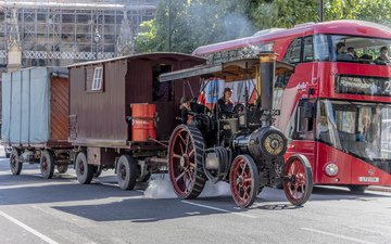ретро, сша, вс, автомобиль, классика, кабриолет, широкие, видим, ветхий, передний, ницца, летнее, dual, паромобиль, паровой трактор, steam car, steam tractor, сто двадцать лет на ходу, one hundred and twenty years on the move, spezial