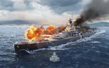 битва, world of warships, игры бой