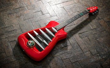 дизайн, фон, гитара, alfa romeo, красный, логотип, англия, италия, старый, паркет, эмблема, британия, limited, limited edition, штучный, harrison custom guitar