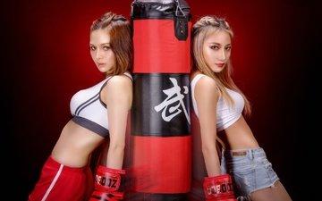 девушки, спорт, бокс