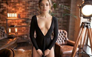 красавица, соска, блонд, сексапильная, модел, indoor