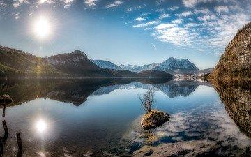 austria, styria, altaussee, styrian lake