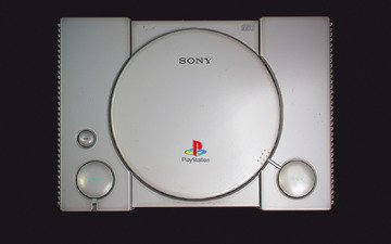 the view from the top, minimalism, sony, console, playstation, sony playstation, first, playstation scph-1001, by ilya dolgov