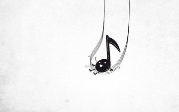 настроение, музыка, мелодия, нота, катается, поет