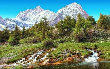 река пасруд, алаудины, фанские горы, таджикистан, родники