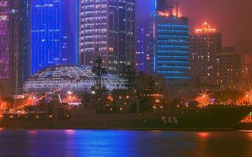корабль, китай, большой, противолодочный, визит, адмирал пантелеев