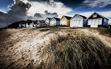 nature, shore, hay, houses, house